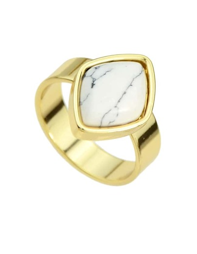 White Turquoise Ring for Women