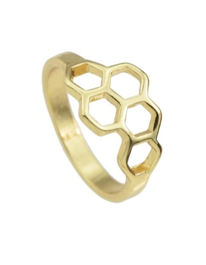 Gold Punk Rock Metal Ring