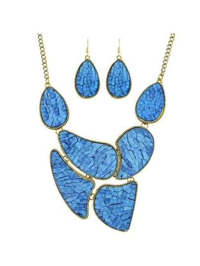 Blue Stone Statement Jewelry Set
