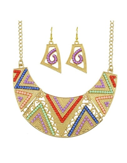 Colorful Beads Chunky Jewelry Set