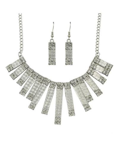 Silver Spike Shape Chunky Jewelry Set