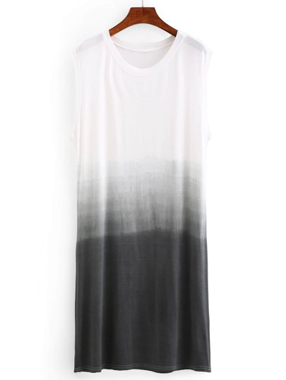 Grey Ombre Drop Armhole Shift Dress