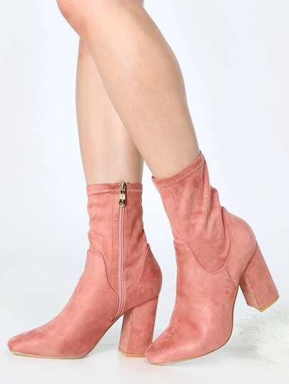 High Shaft Ankle Booties DUSTY ROSE
