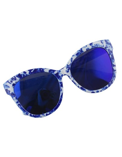 Blue Big Sunglasses