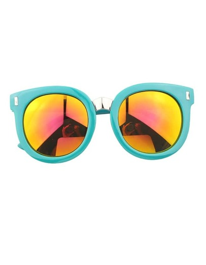Green Round Large Sunglasses