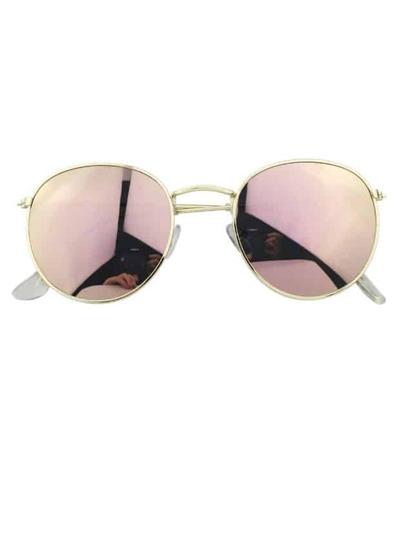 Gafas de sol redondo talla grande -rosa