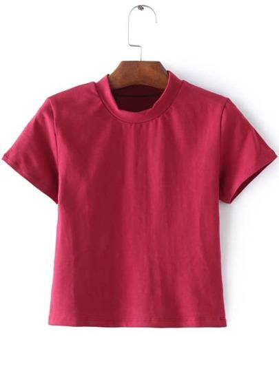 Camiseta manga corta casual -rojo