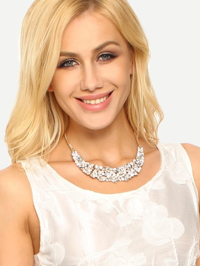 Silver Crystal Embellishment Necklace