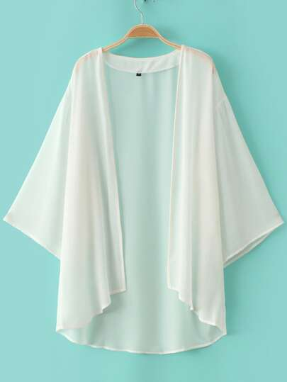 Kimono gasa suelto -blanco