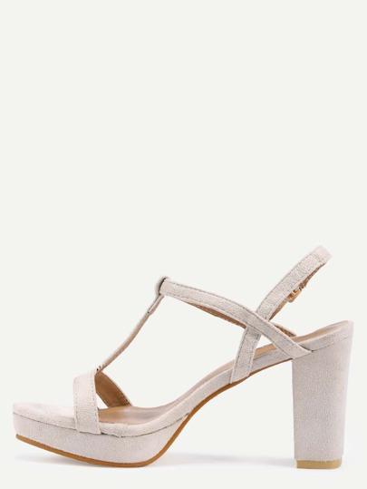 Escarpins sandales à lanières en faux daim - blanc