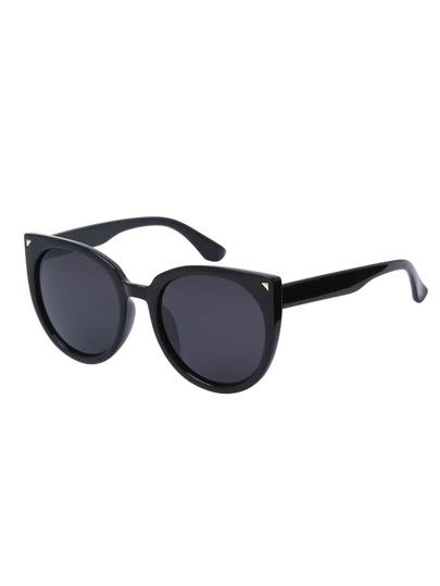 Black Lenses Oversized Round Cat Eye Sunglasses