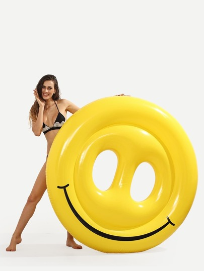 Smiley Face Pool Float - Yellow