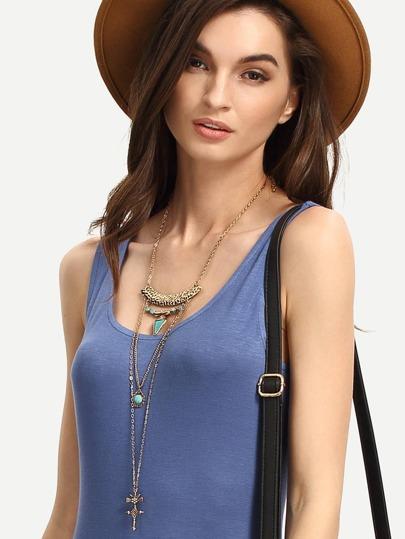 Bohemia Multilayer Turquoise Pendant Necklace