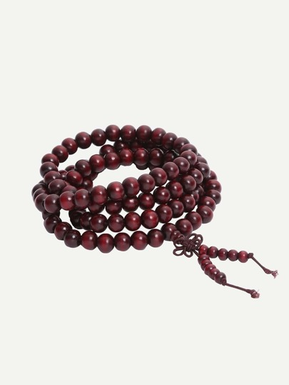 Ruyi knotted Wooden 108 Beads Bracelet