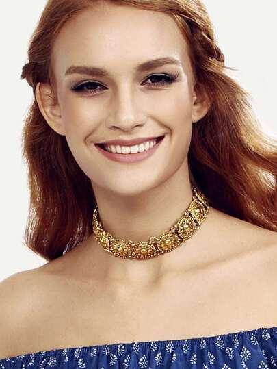 Gold linked Vintage Choker Necklace