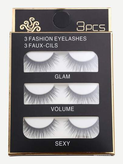 Faux-cils long et naturel