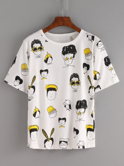 Comic Portrait Print Tee