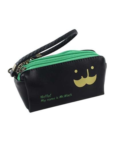 Black Pu Leather Casual Clutch Bag