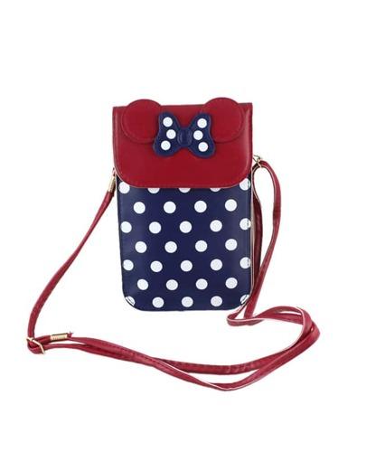 Navyblue Cute Pu Leather Card Bag