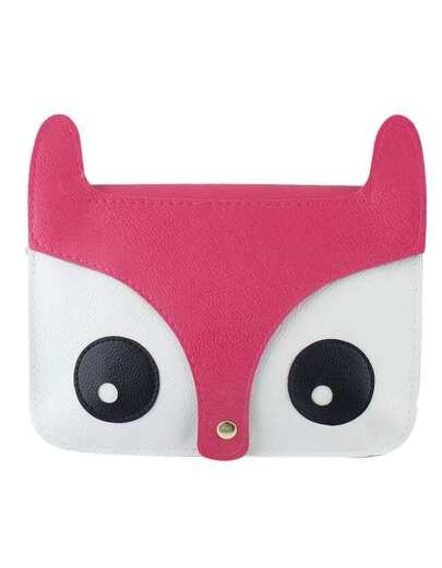 Hotpink Cute Animal Head Pu Shoulder Bag