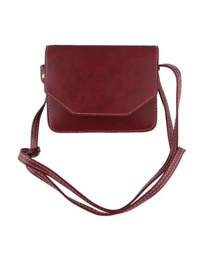 Winered Pu Leather Shoulder Bag