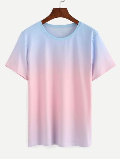 Blue Pink Ombre T-shirt