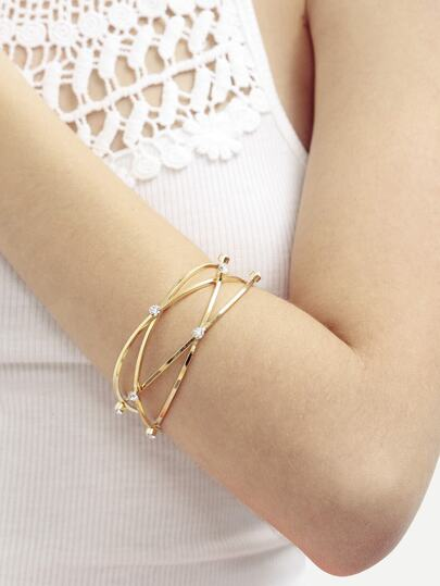 Golden Diamond Stereoscopic Bracelet