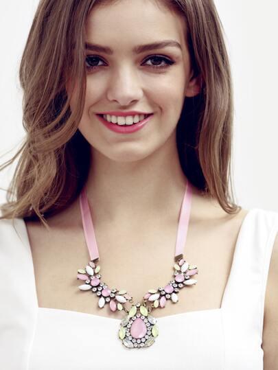 Multicolor Flower Gemstone Necklace