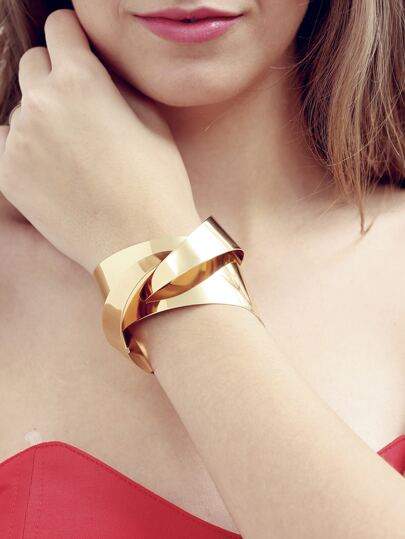Golden Anti-radiation Geometrical Bracelet