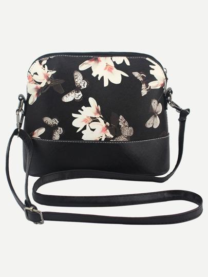 Crossbody Tasche mit Blumenmuster und Schmetterling Druck