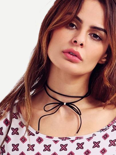 Basis Choker Halskette mit Schleife besetzt