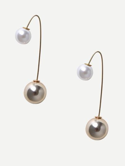 Ohrringe mit Perle verziert