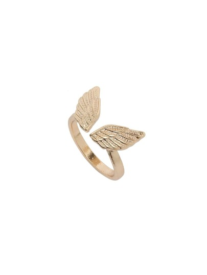 Golden Wing-shaped Ring