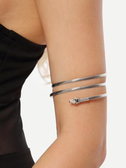 Silver Snake-shaped Arm Cuff