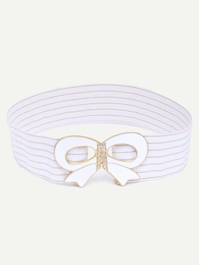 White Bow Decorated Belt