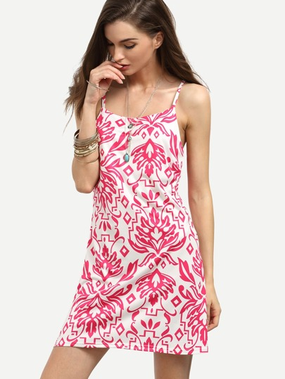 Hot Pink Tribal Print Cami Dress