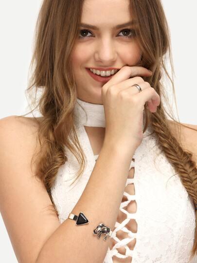 Black Turquoise Inset Bracelet