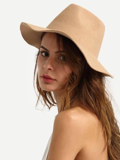 Chapeau de paille tendance avec bretelle - marron clair