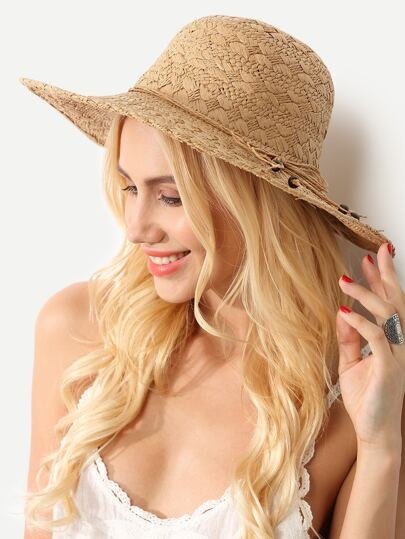 Collapsible Bow Large Brimmed Straw Hat