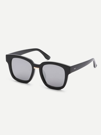 Black Fashionable Square Lenses Frame Sunglasses