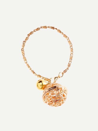 Golden Jingle Bell Pendant Bracelet