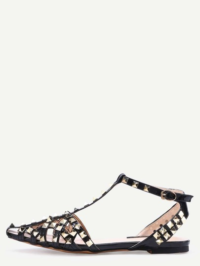 Sandales orné de rivets - noir