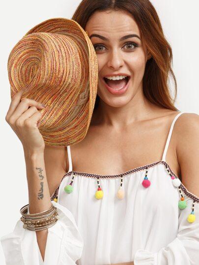 Multicolor Boho Straw Hat
