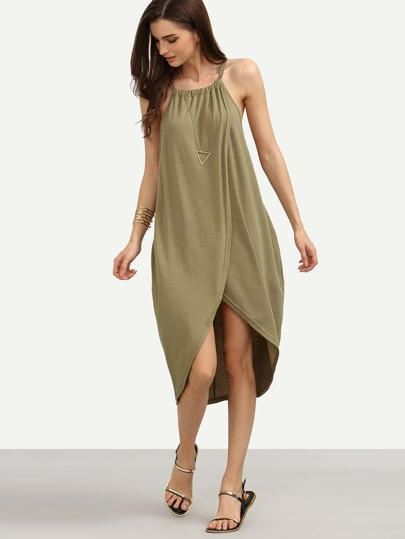 Overlap Tea Length Dress