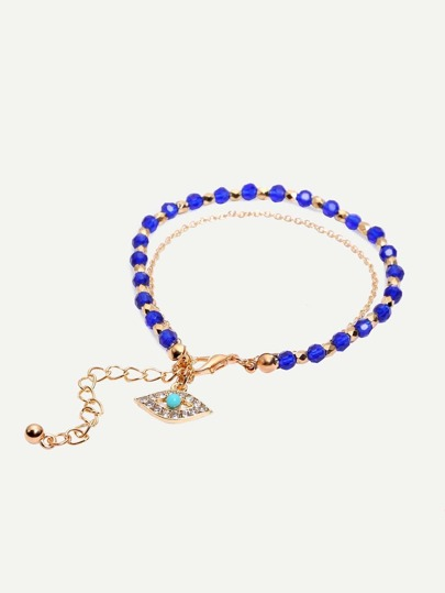 Anti-fatigue Beads Eye Pendant Bracelet