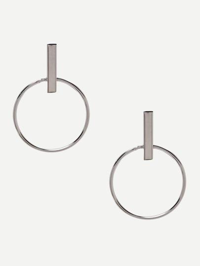 Silver Retro Alloy Geometric Earrings