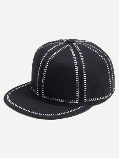 Black and White Canvas Baseball Hat