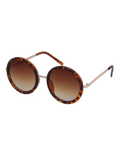 Leopard Frame Round Sunglasses