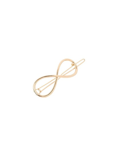 Golden Minimalist Figure-8 Hair Clip