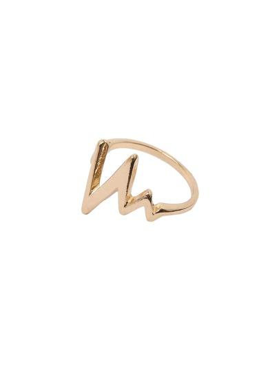 Golden Geometric Shape Minimalist Ring